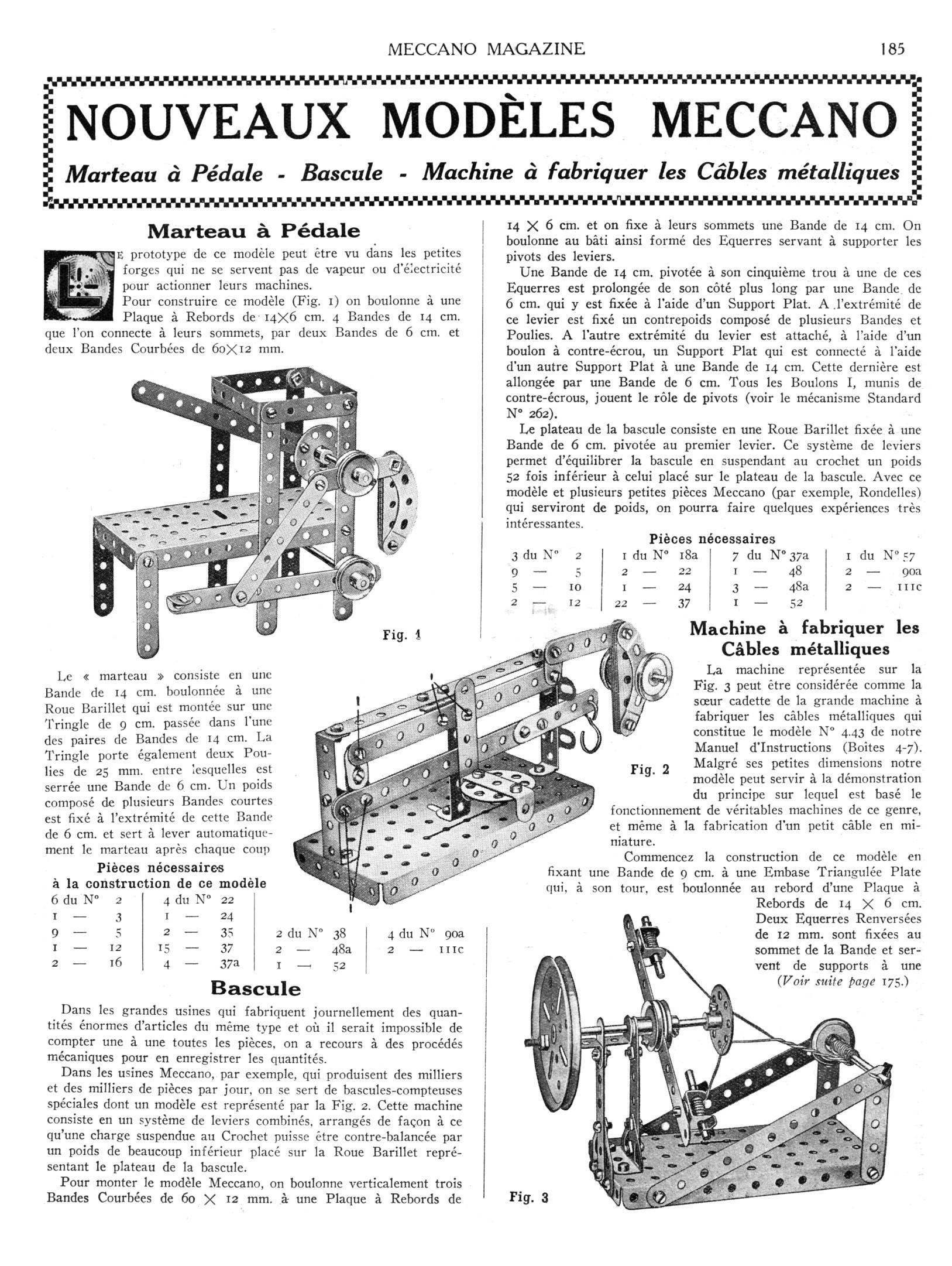 Meccano Magazine Français November 1929 Page 185