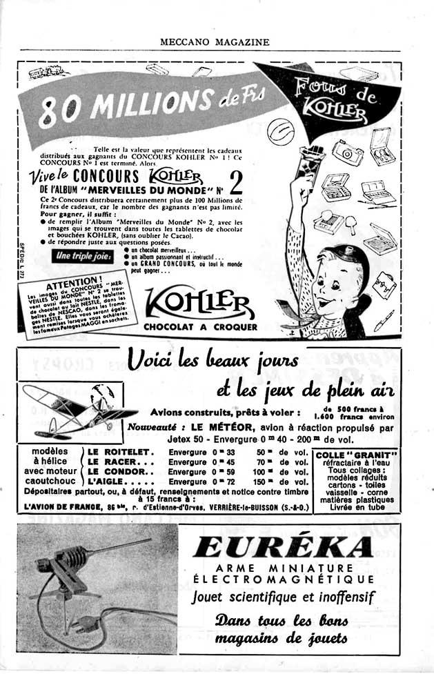 Meccano Magazine Français May 1955 Page 47