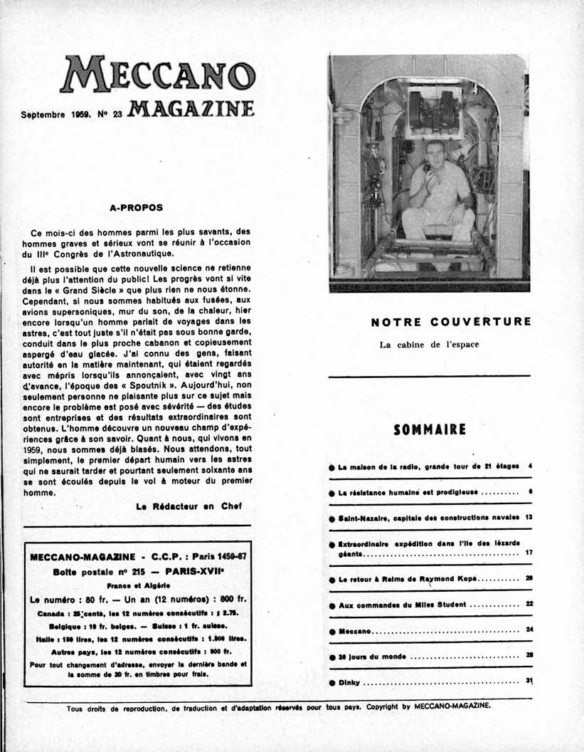 Meccano Magazine Français September 1959 Page 3