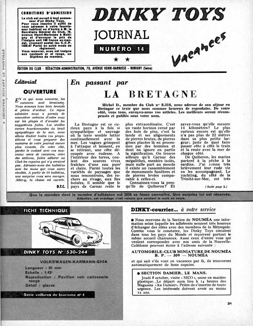 Meccano Magazine Français September 1959 Page 31