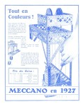 Meccano Magazine Français January (Janvier) 1928 Inner F/cover