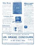 Meccano Magazine Français April (Avril) 1929 Inner R/cover