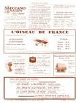 Meccano Magazine Français June (Juin) 1929 Inner R/cover