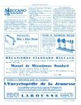 Meccano Magazine Français August (Août) 1933 Inner R/cover