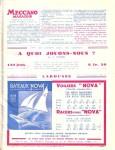 Meccano Magazine Français August (Août) 1934 Inner R/cover