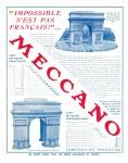 Meccano Magazine Français June (Juin) 1937 Inner R/cover