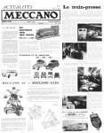 Actualités Meccano July (Juillet) 1962 Page 1