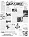 Actualités Meccano November (Novembre) 1962 Page 1